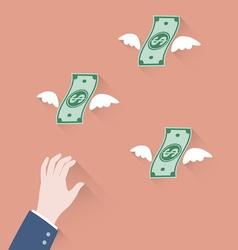 grab money vector image vector image