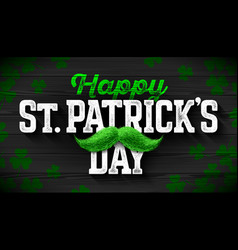 happy saint patricks day feast of saint patrick vector image vector image