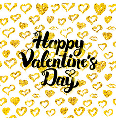 Happy valentines day handwritten card vector