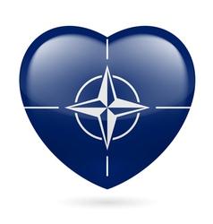 Heart icon of nato vector