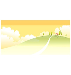 House landscape vector image