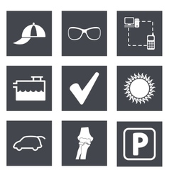 Icons for Web Design set 13 vector image