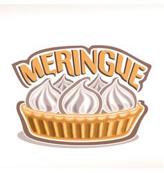 Italian dessert meringue vector