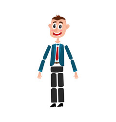 Man character creation set with head body arm vector