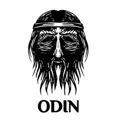 odin scandinavian ancient god head icon vector image