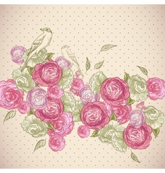 Rose Background with Birds and Butterflies vector image vector image