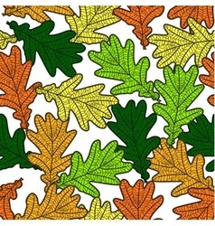 seamless pattern made from oak leaves vector image