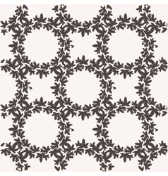 Seamless pattern with textured leaves vector image vector image