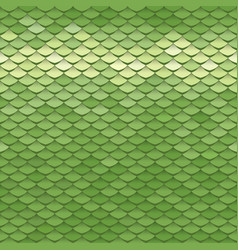seamless scale pattern green squama texture vector image