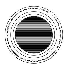 Silhouette heraldic circular figure stamp with vector