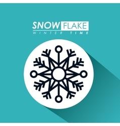 snowflake icon design vector image