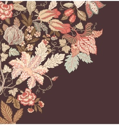 Stylish vintage floral background vector