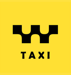 taxi logo concept on yellow background vector image vector image