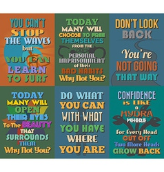 Unusual motivational and inspirational quotes vector