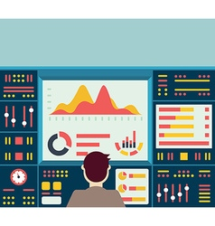 web analytics information on dashboard an vector image vector image