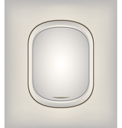 Window Airplane 07 vector image vector image