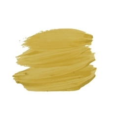 Yellow smear of paint vector