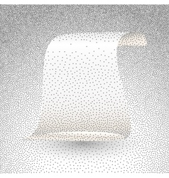 silver paper scroll vector image
