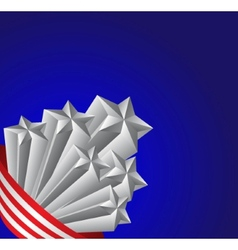 American flag and silver stars patriotic vector image