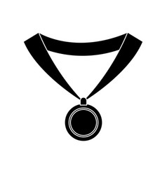 medal with ribbon icon image vector image