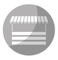 Store with striped awning vector