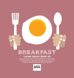 Breakfast Concept EPS10 vector image