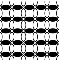 Monochrome repeating abstract geometrical ellipse vector