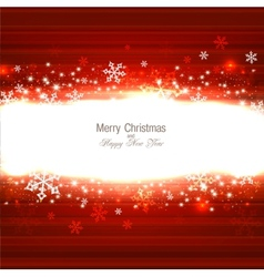 Beautiful Red Christmas background with snowflakes vector image