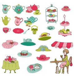 English tea party set vector