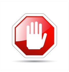 Hand sign no entry vector