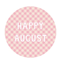 Happy august background4 vector