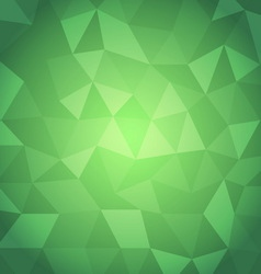 Abstract triangle with green background vector image
