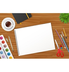 Art process with watercolor vector