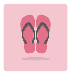 Flat icon beach sandals vector