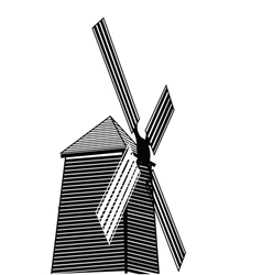Wind turbine eco concept vector