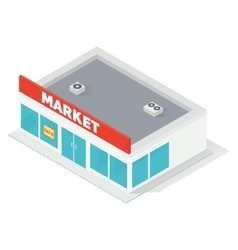 New isometric supermarket building vector
