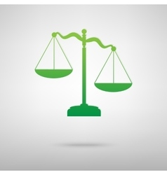 Scales of justice green icon vector