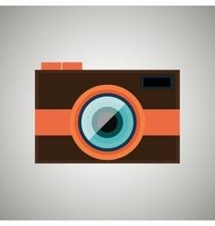 Retro camera design vector