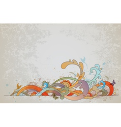 vintage swirl vector image