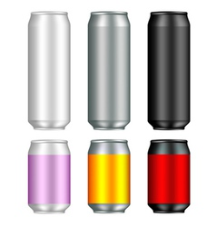 Aluminum can templates vector