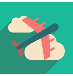 Flat with shadow icon and mobile application vector image