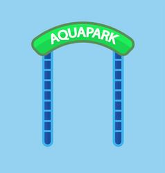 Aquapark entrance sign vector