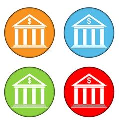 Bank button set vector