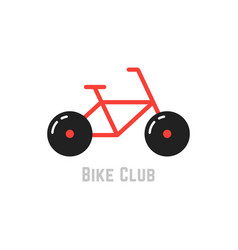 bike club with red bicycle vector image vector image