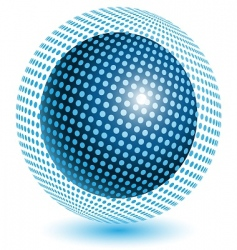blue ball vector image vector image