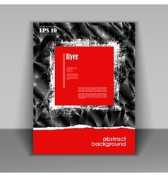 Booklet with modern red square vector