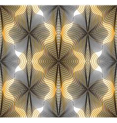 Bright stripy endless overlay pattern art vector
