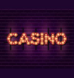 Casino retro banner template vector