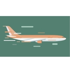 Civil aviation travel passanger air plane vector image