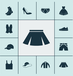 Clothes icons set collection of heel footwear vector